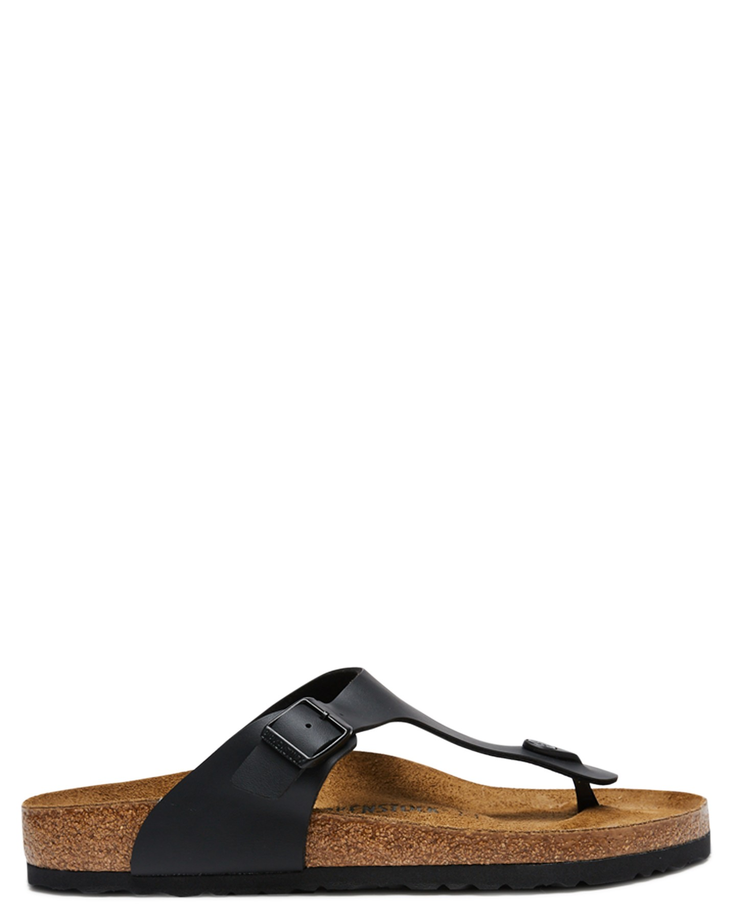 Birkenstock Birko-flor Suede Leather Black Lightweight Mens Thongs
