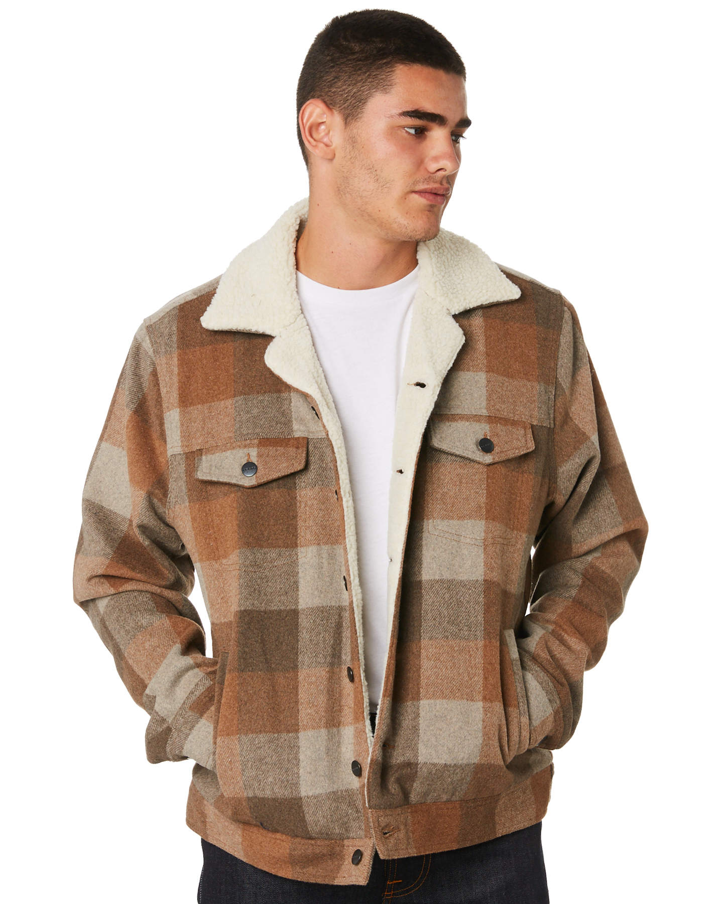 431922a0f9 Insight Lumber City Mens Jacket Brown