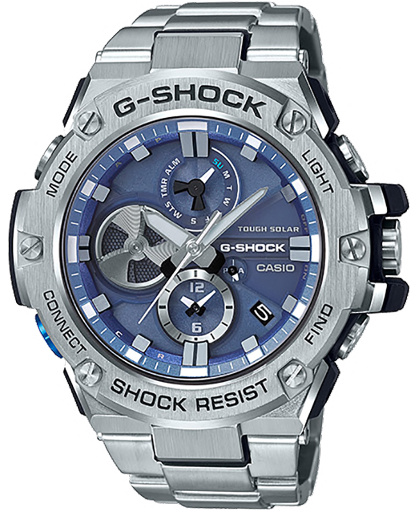G Shock Gsts330c 1a Cordura G Steel Mid Size Watch Stainless Black