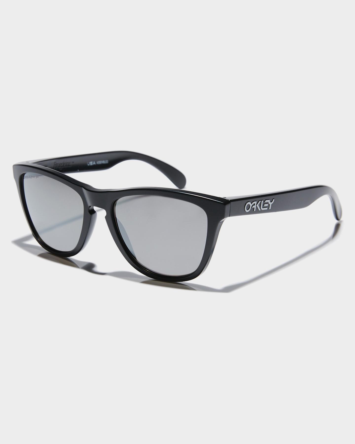 Oakley Frogskins Polarized Sunglasses Matte Black Prizm