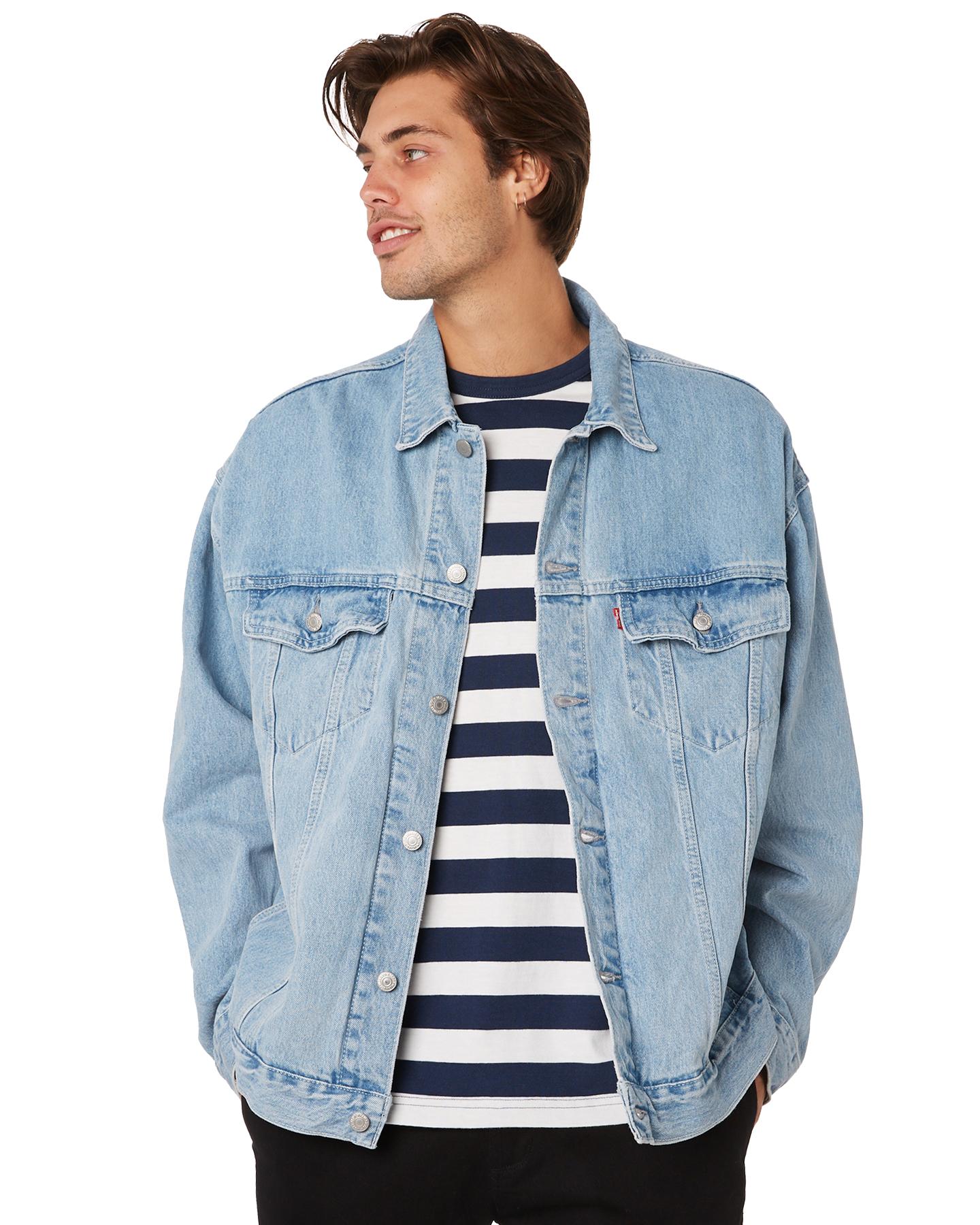 25bd5e76ff68b1 Details about Levi's Men's Levi`S Baggy Mens Trucker Jacket Cotton Blue