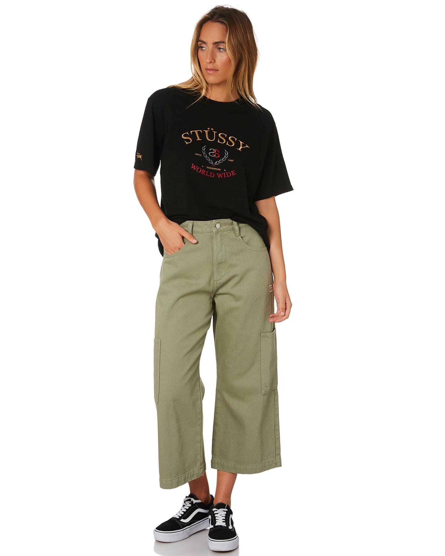 8185f492f74 New Stussy Women s Benson Os Tee Crew Neck Short Sleeve Cotton ...