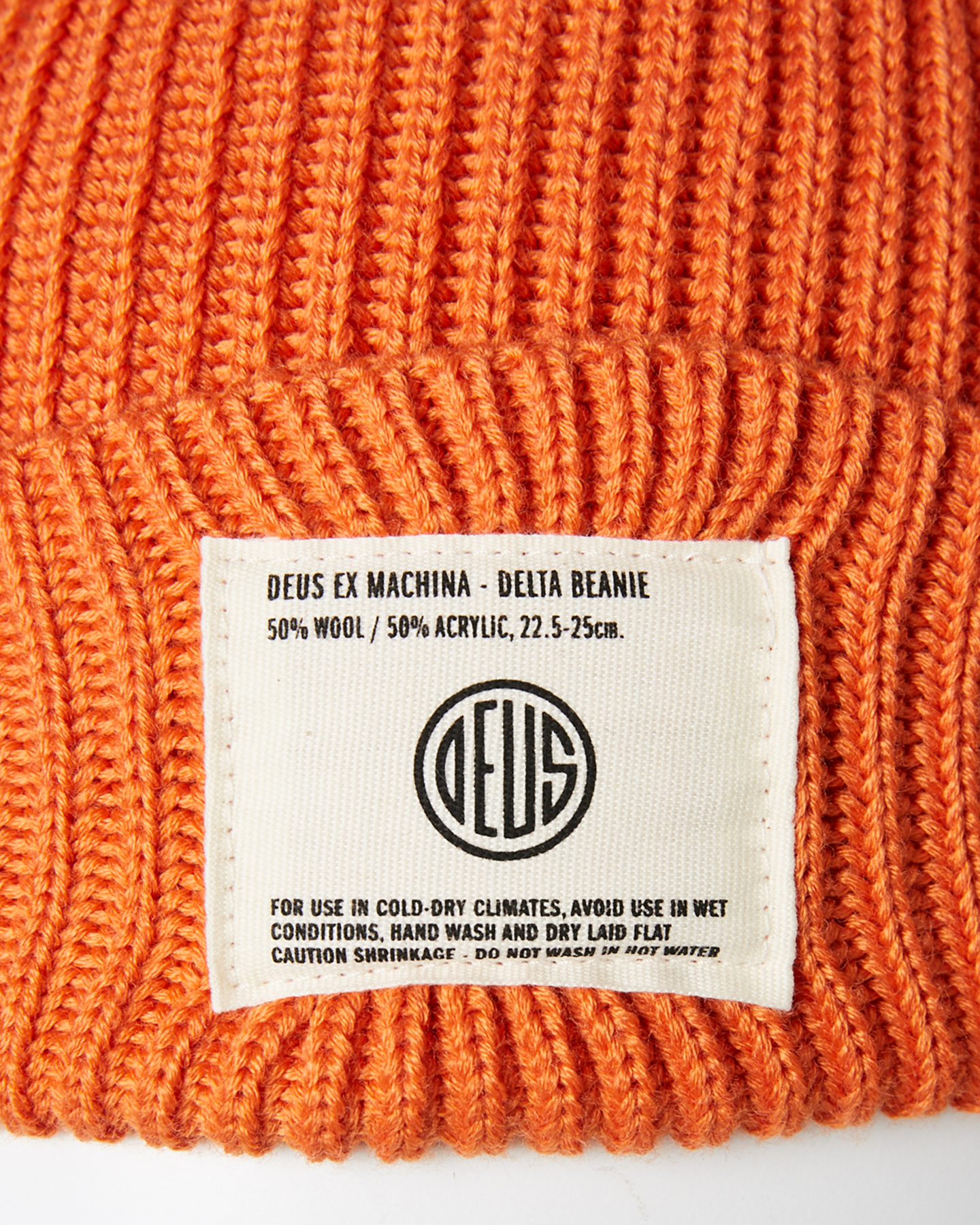 fa7c83d16 Details about New Deus Ex Machina Men's Delta Beanie Wool Acrylic Red
