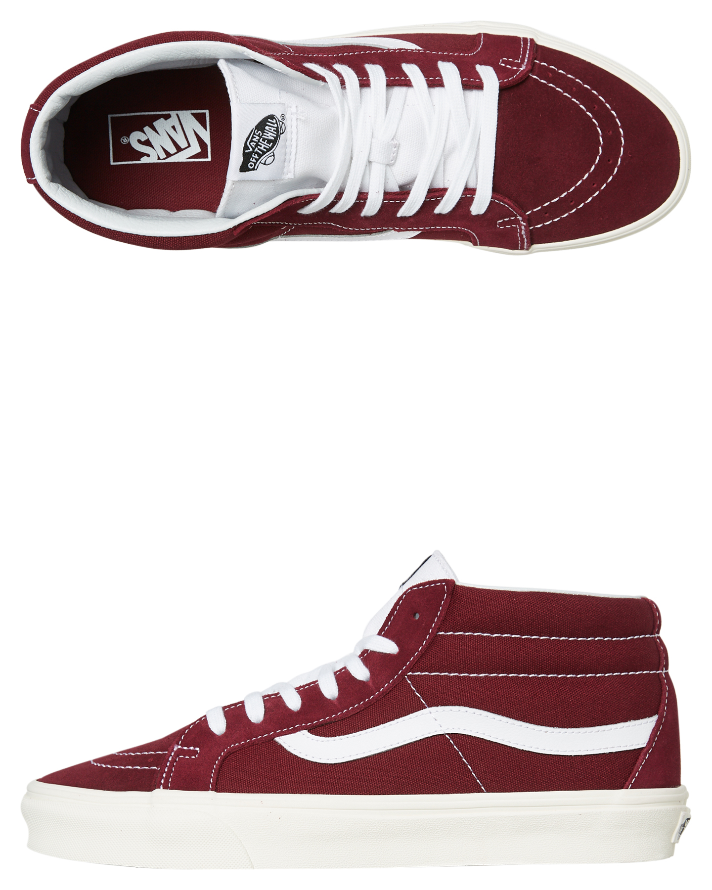thoughts on prevalent luxury aesthetic Details about Vans Men's Sk8 Mid Reissue Shoe Lace Canvas Red