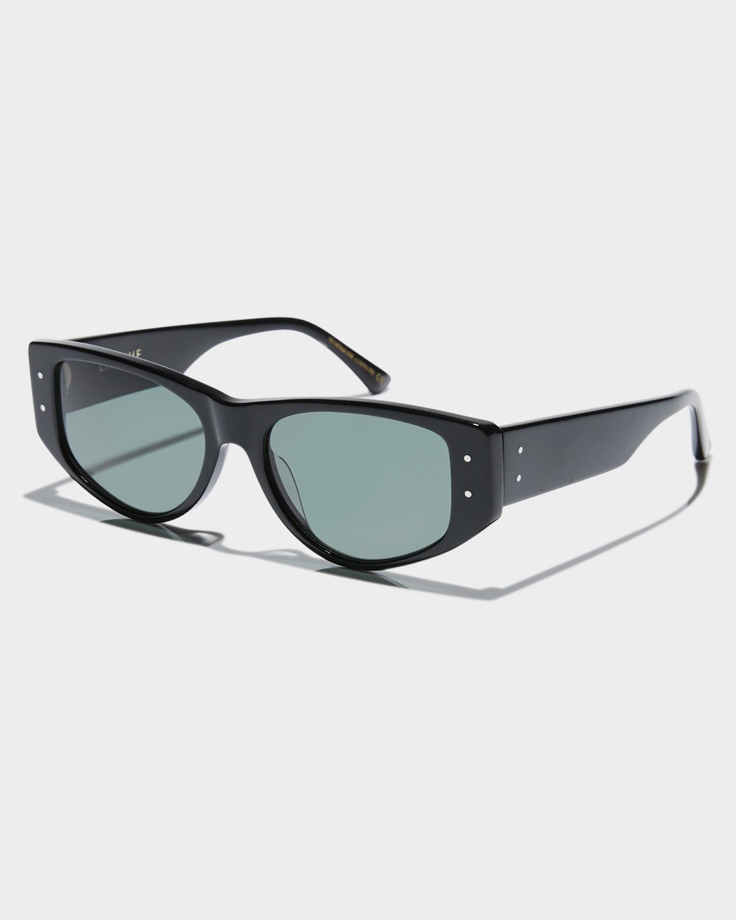 Epokhe Eno Sunglasses Black Polished Green