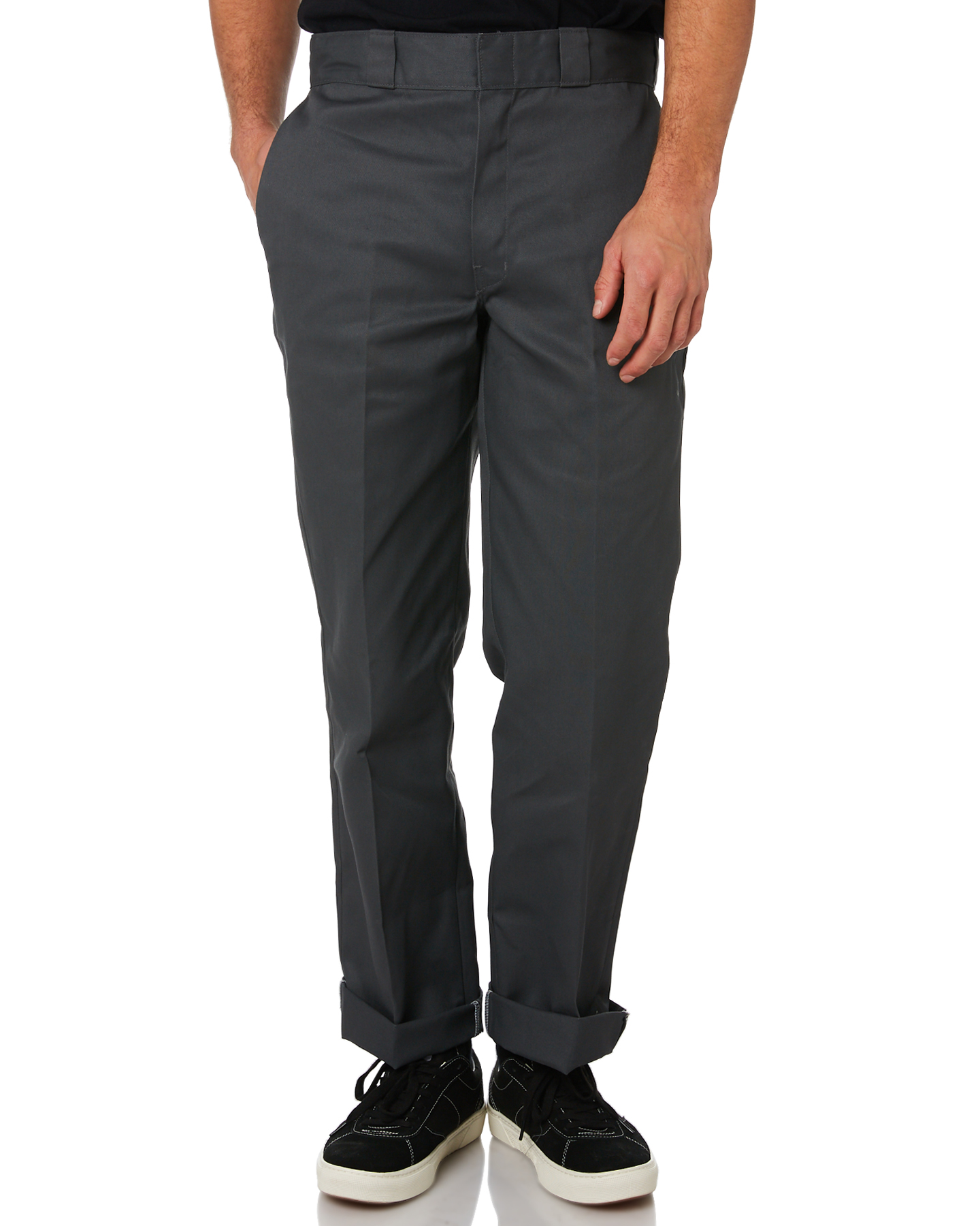 Dickies Original Fit Polyester Cotton Wrinkle Resistant Chino Pant Charcoal