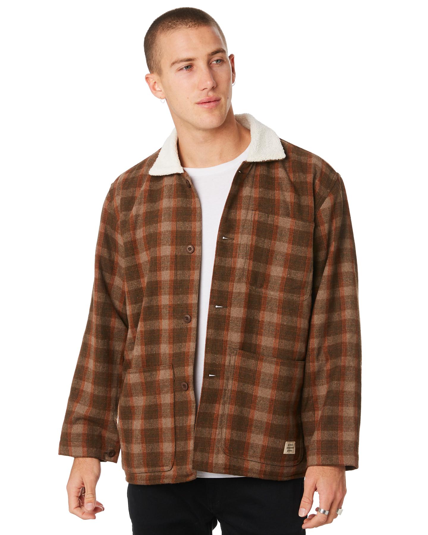 6a3b4fa385 Insight Lumber City Mens Jacket Brown _Mens Jackets Size S | Budget ...
