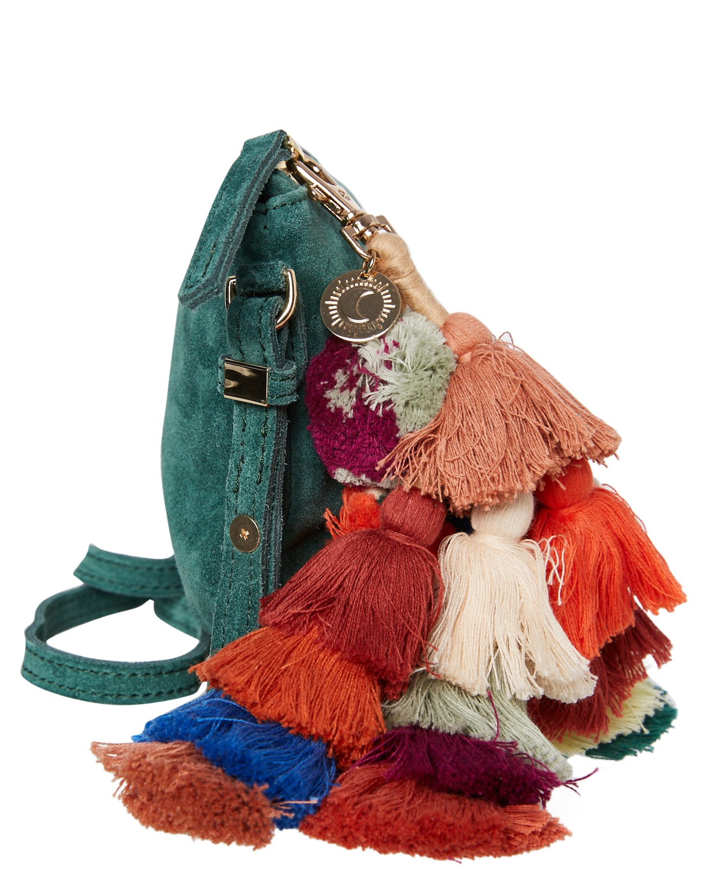 New-The-Wolf-Gang-Women-039-s-Rio-Cross-Body-Bag-Suede-Canvas-Pink thumbnail 7