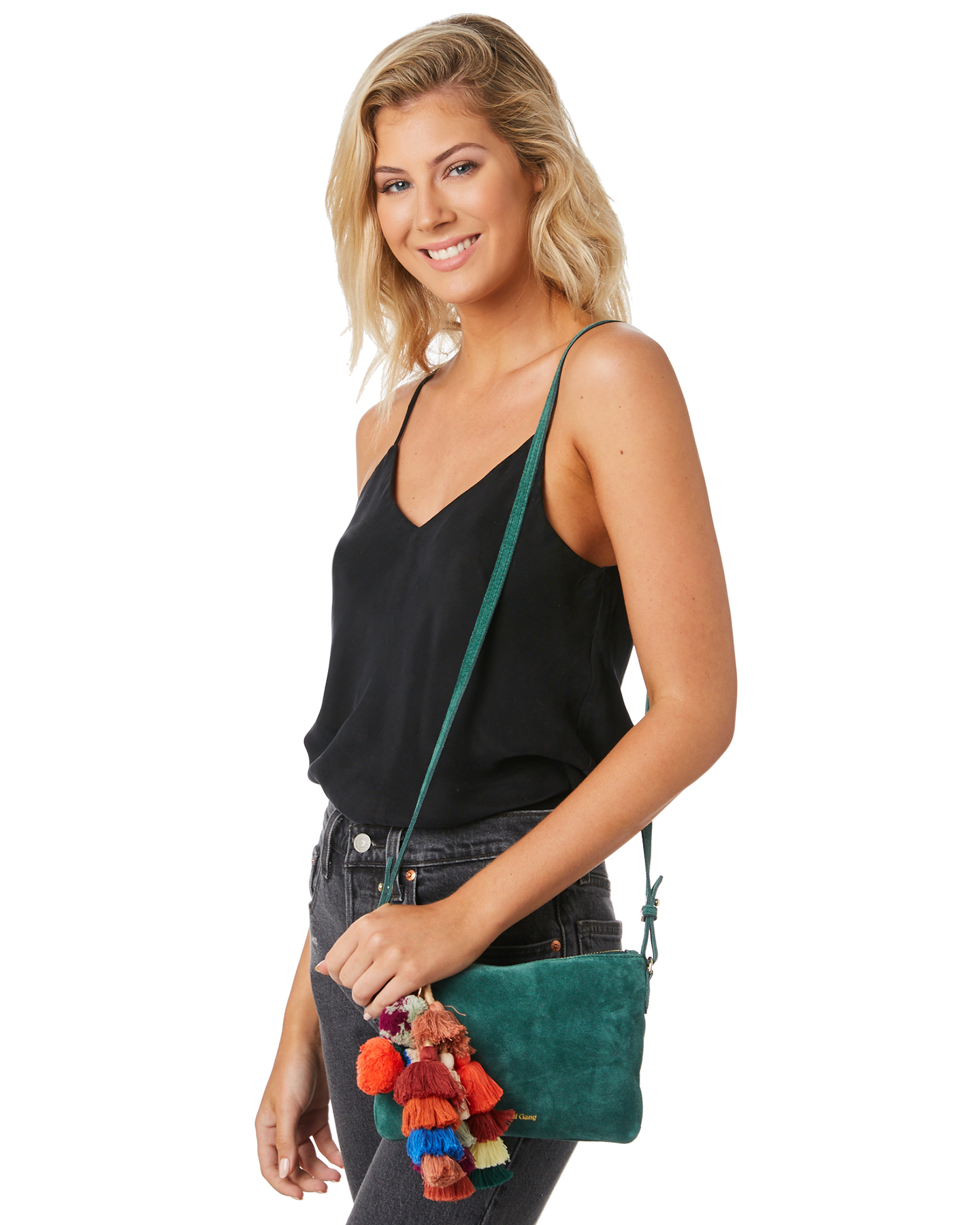 New-The-Wolf-Gang-Women-039-s-Rio-Cross-Body-Bag-Suede-Canvas-Pink thumbnail 10