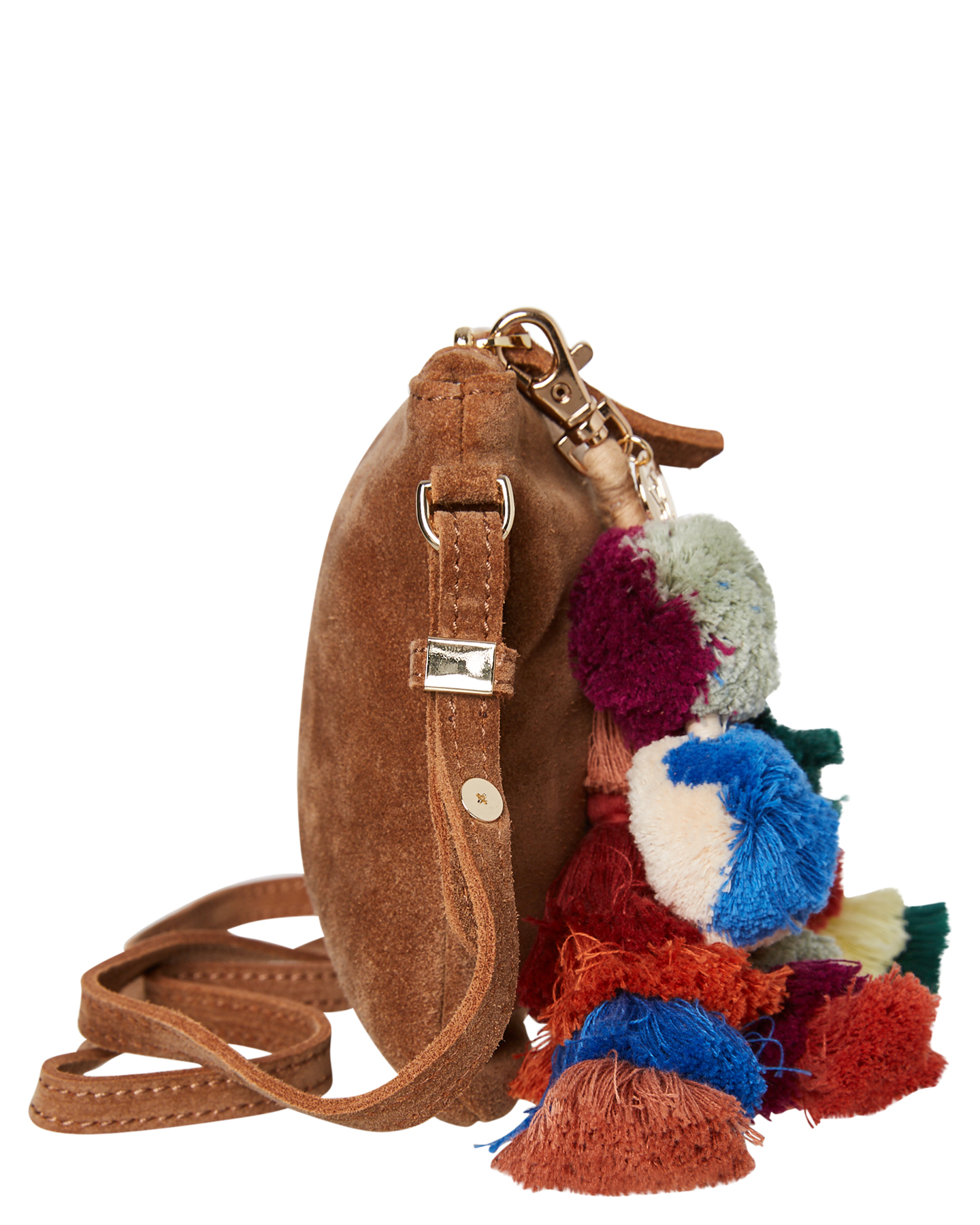 New-The-Wolf-Gang-Women-039-s-Rio-Cross-Body-Bag-Suede-Canvas-Pink thumbnail 12