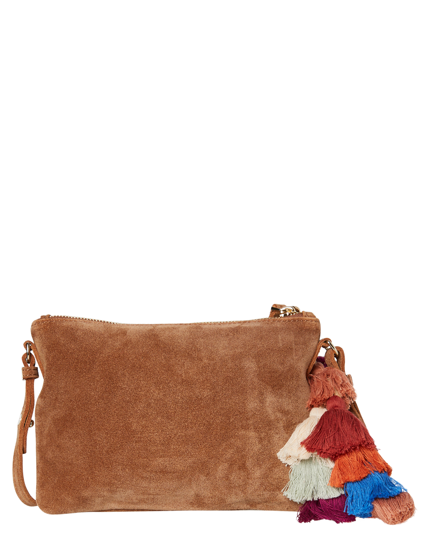 New-The-Wolf-Gang-Women-039-s-Rio-Cross-Body-Bag-Suede-Canvas-Pink thumbnail 13