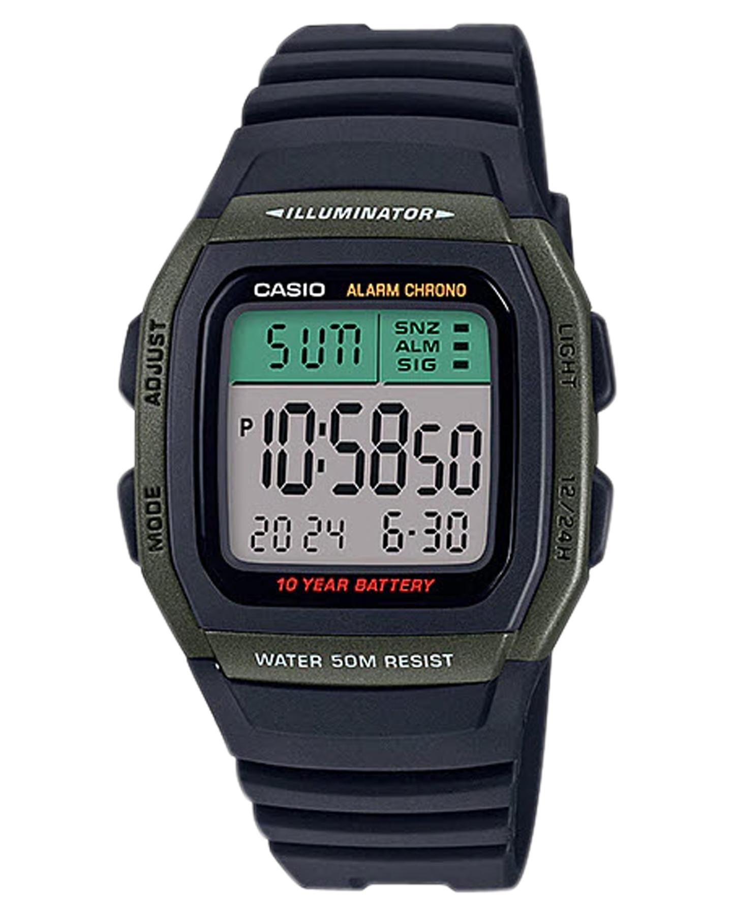 Casio Standard Digital W96H Watch Green