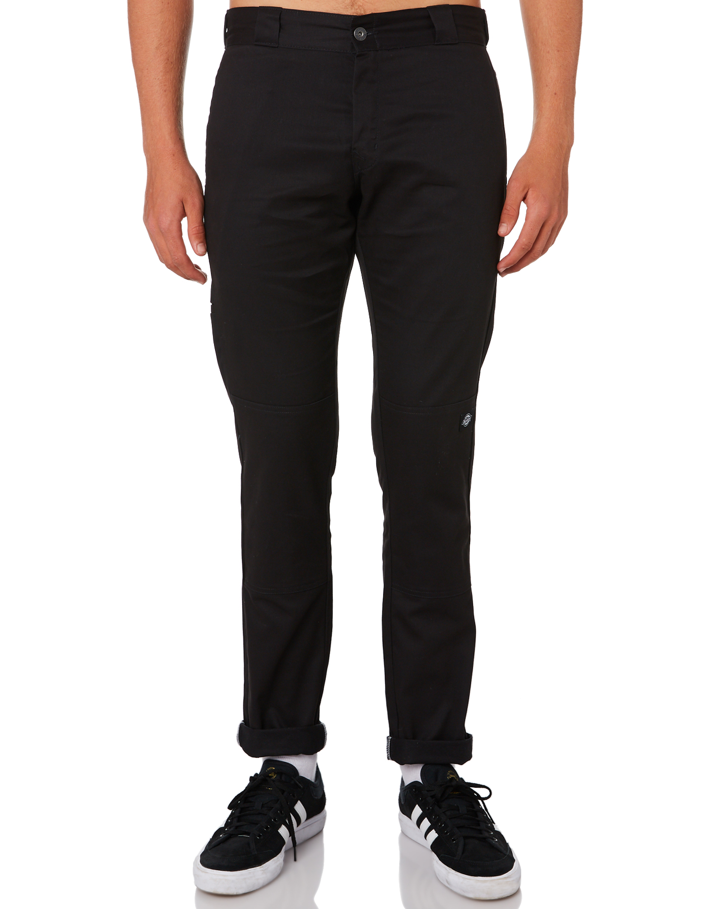 Dickies Polyester Cotton Spandex Chino Style Black Mens Work Pants