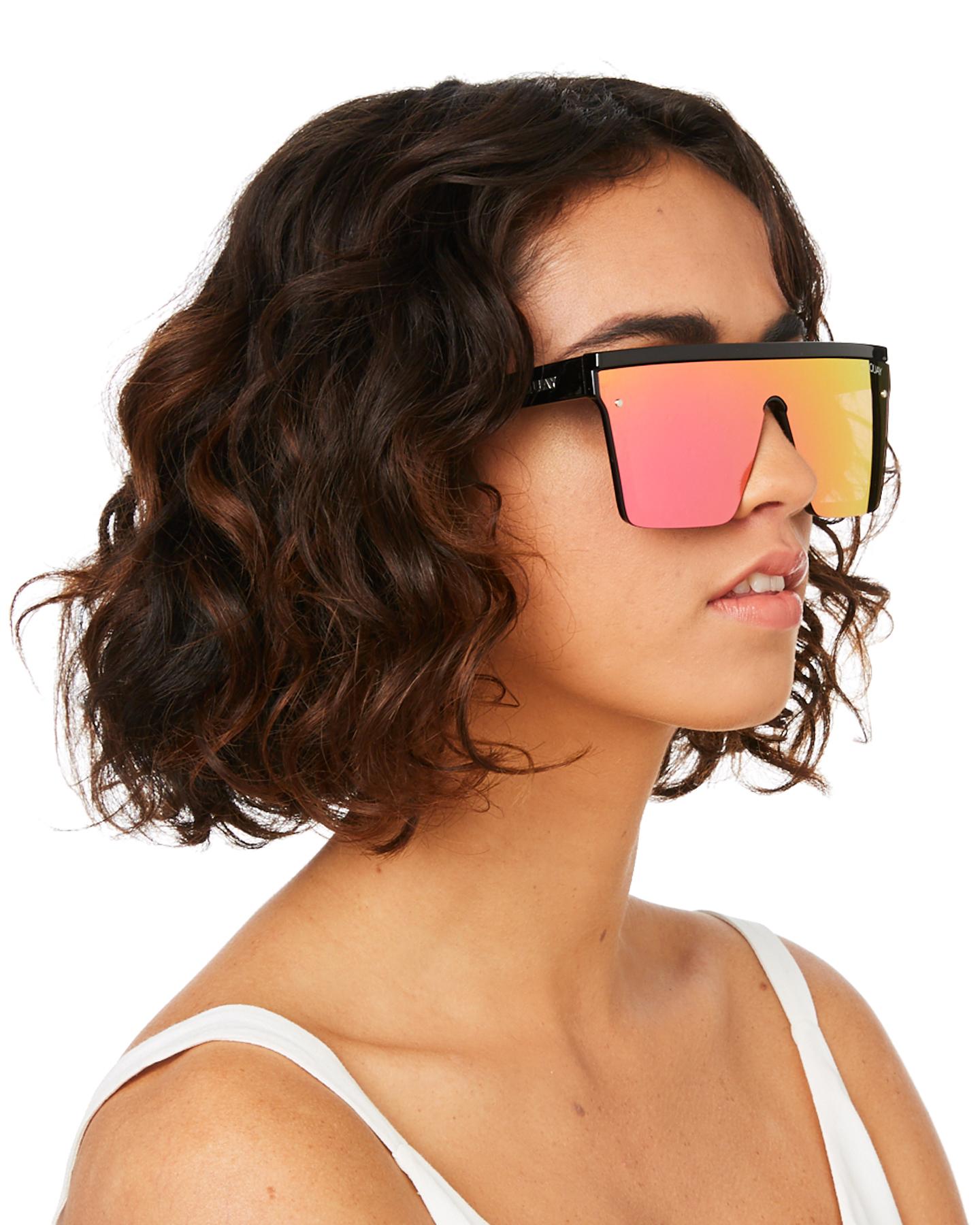 New-Quay-Eyewear-Women-039-s-Hindsight-Sunglasses-Stainless-Steel-Glass-Pink thumbnail 15