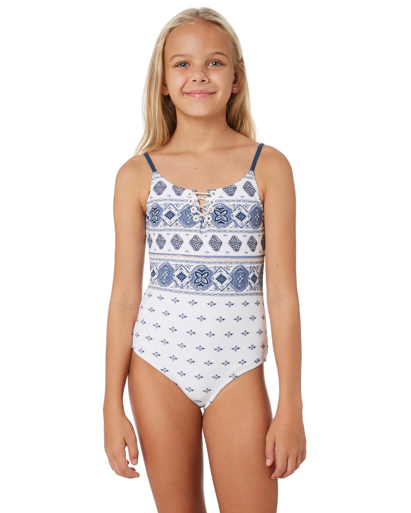 754c8cc0d2 Rip Curl Girls Port Villa One Piece – Teens White