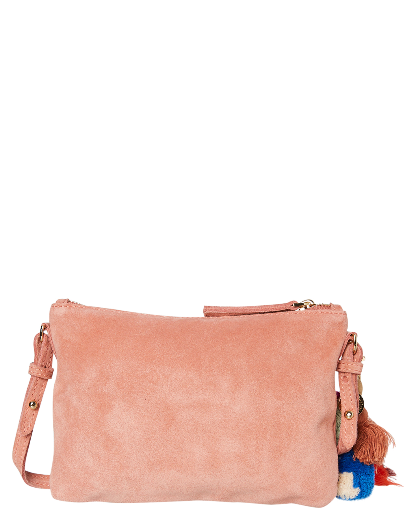 New-The-Wolf-Gang-Women-039-s-Rio-Cross-Body-Bag-Suede-Canvas-Pink thumbnail 18