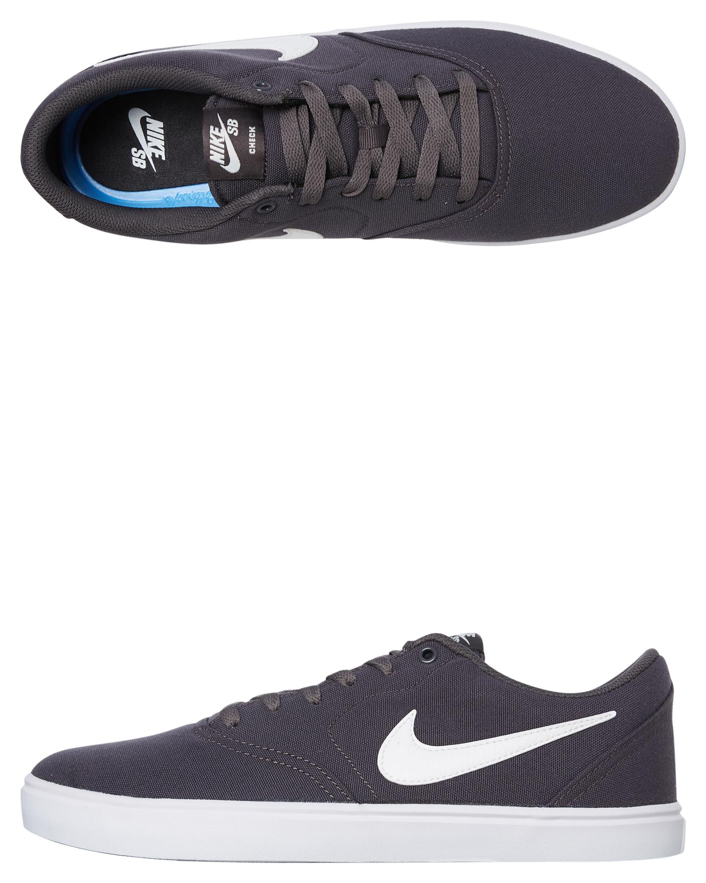 Nike Sb Check Solarsoft Canvas Shoe Thunder Grey