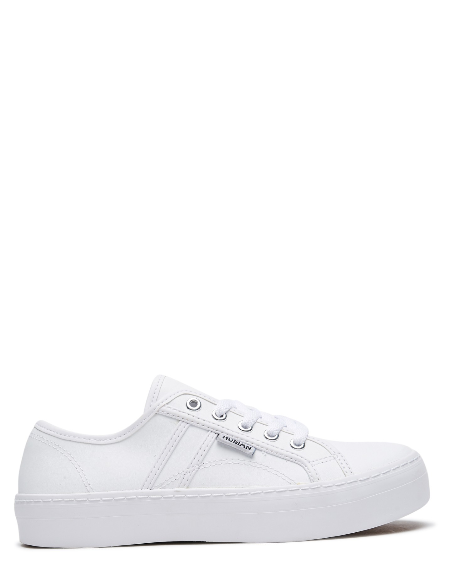 Human Footwear Womens Cass Leather Shoe White Leather