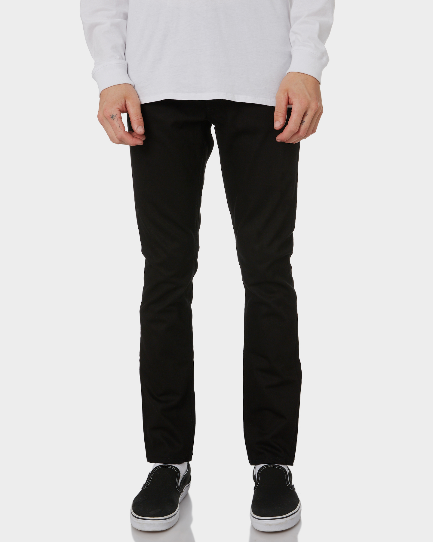Nudie Jeans Co Lean Dean Cotton Dry Cold Black Mens Slim Jeans