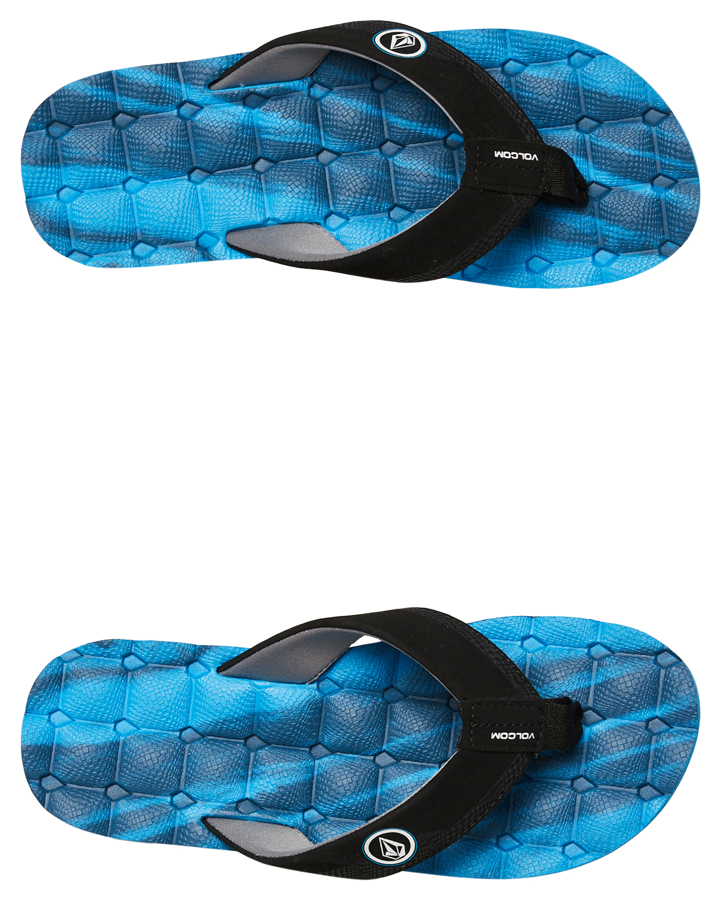 New Volcom Boy/'s Recliner Sandal Marina Blue