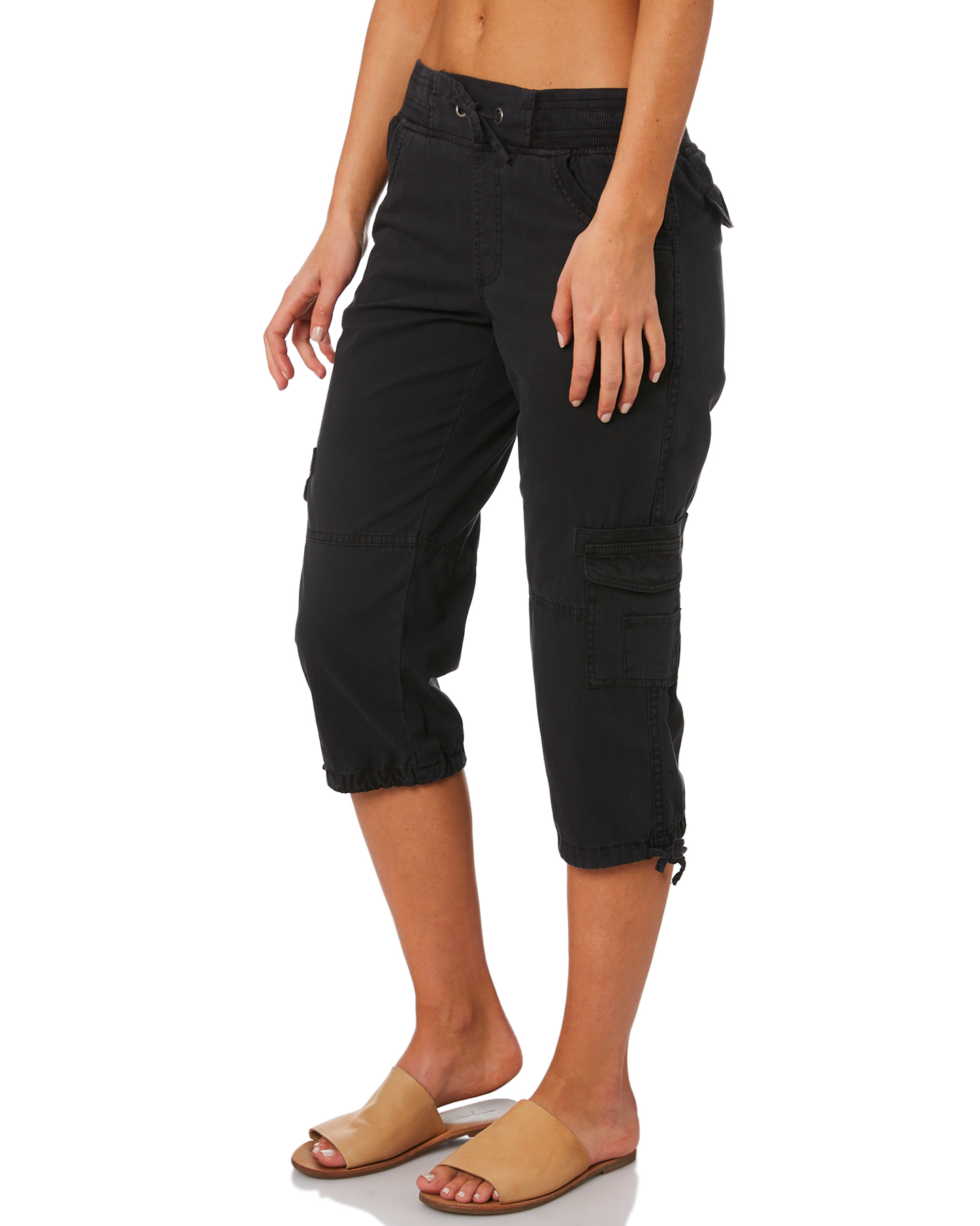 New-Swell-Women-039-s-Mayfair-3-4-Cargo-Pant-Cotton-Green thumbnail 12