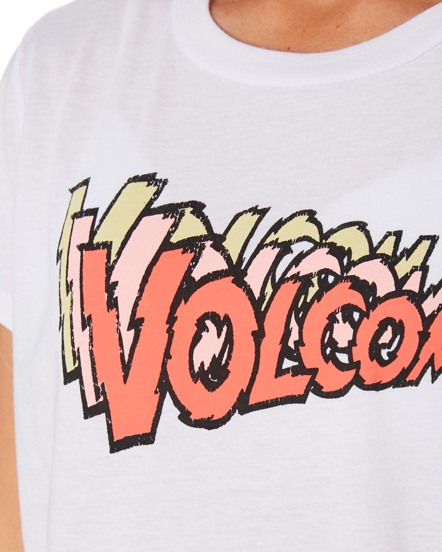 New-Volcom-Girls-Girls-Last-Party-Tee-Teens-White thumbnail 14