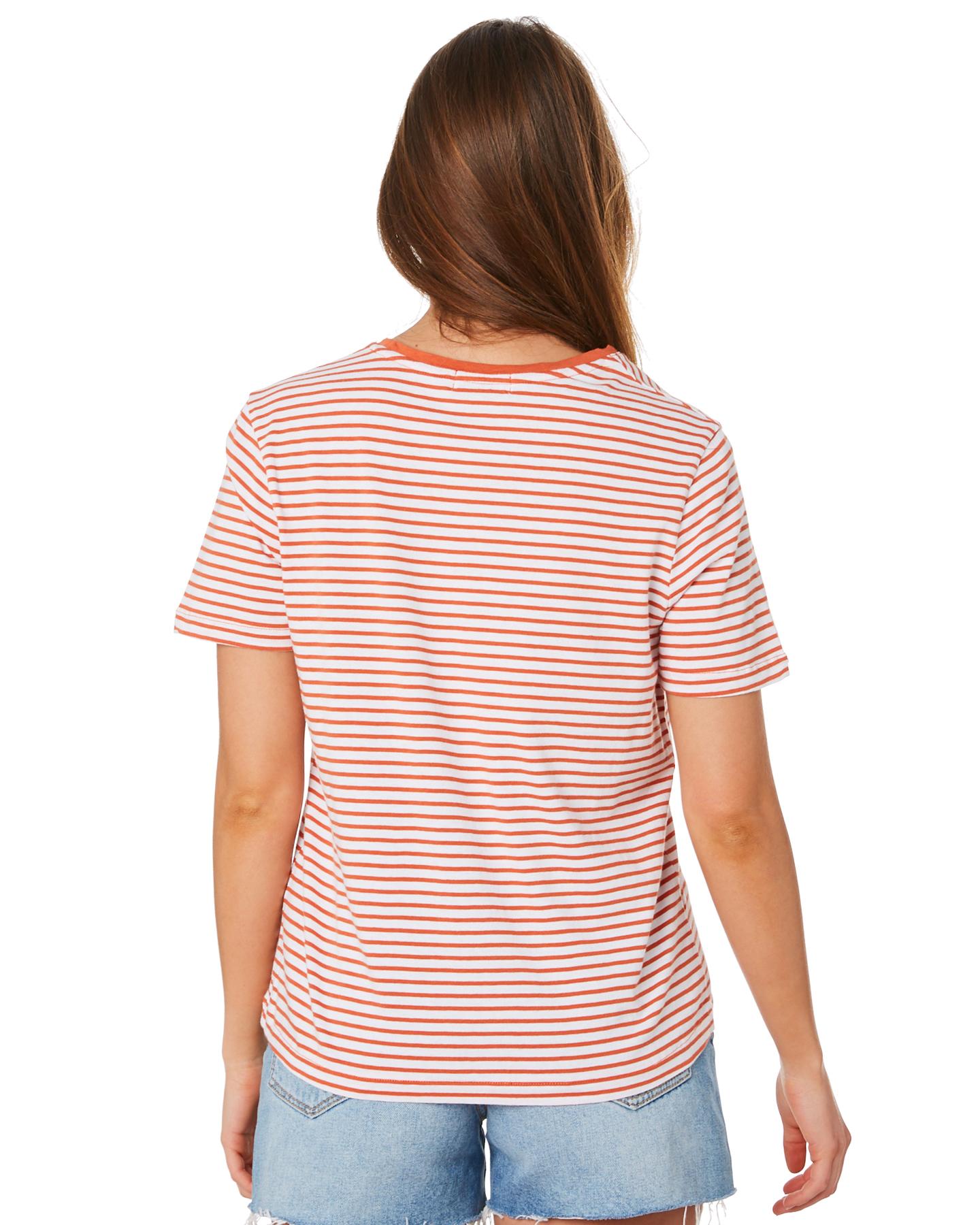 New-Swell-Women-039-s-Jesse-Stripe-Tee-Crew-Neck-Short-Sleeve-Cotton thumbnail 13
