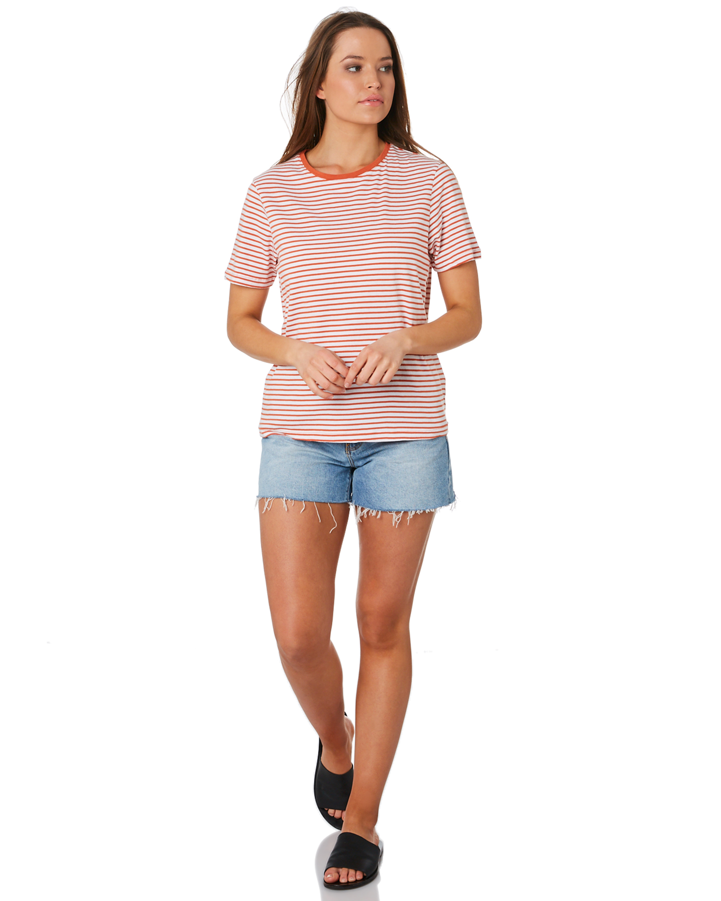 New-Swell-Women-039-s-Jesse-Stripe-Tee-Crew-Neck-Short-Sleeve-Cotton thumbnail 15