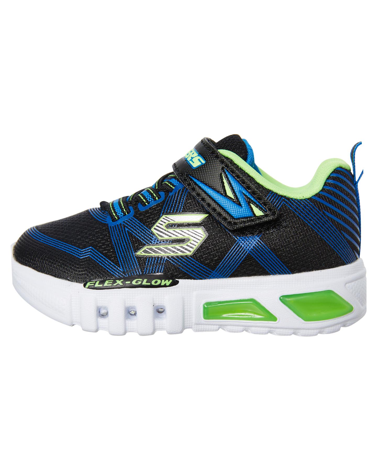 Skechers-Boys-Tots-Boys-Flex-Glow-Shoe-Lace-Mesh-Blue thumbnail 8