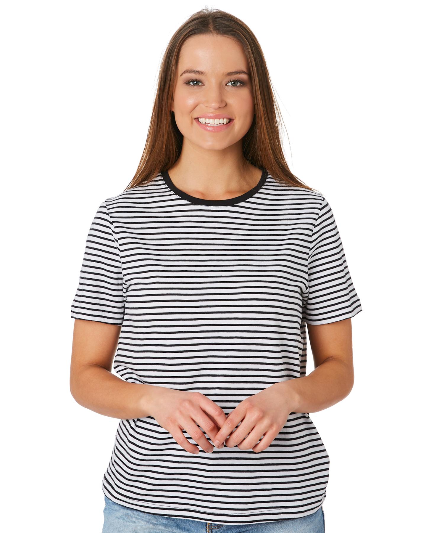 New-Swell-Women-039-s-Jesse-Stripe-Tee-Crew-Neck-Short-Sleeve-Cotton thumbnail 7