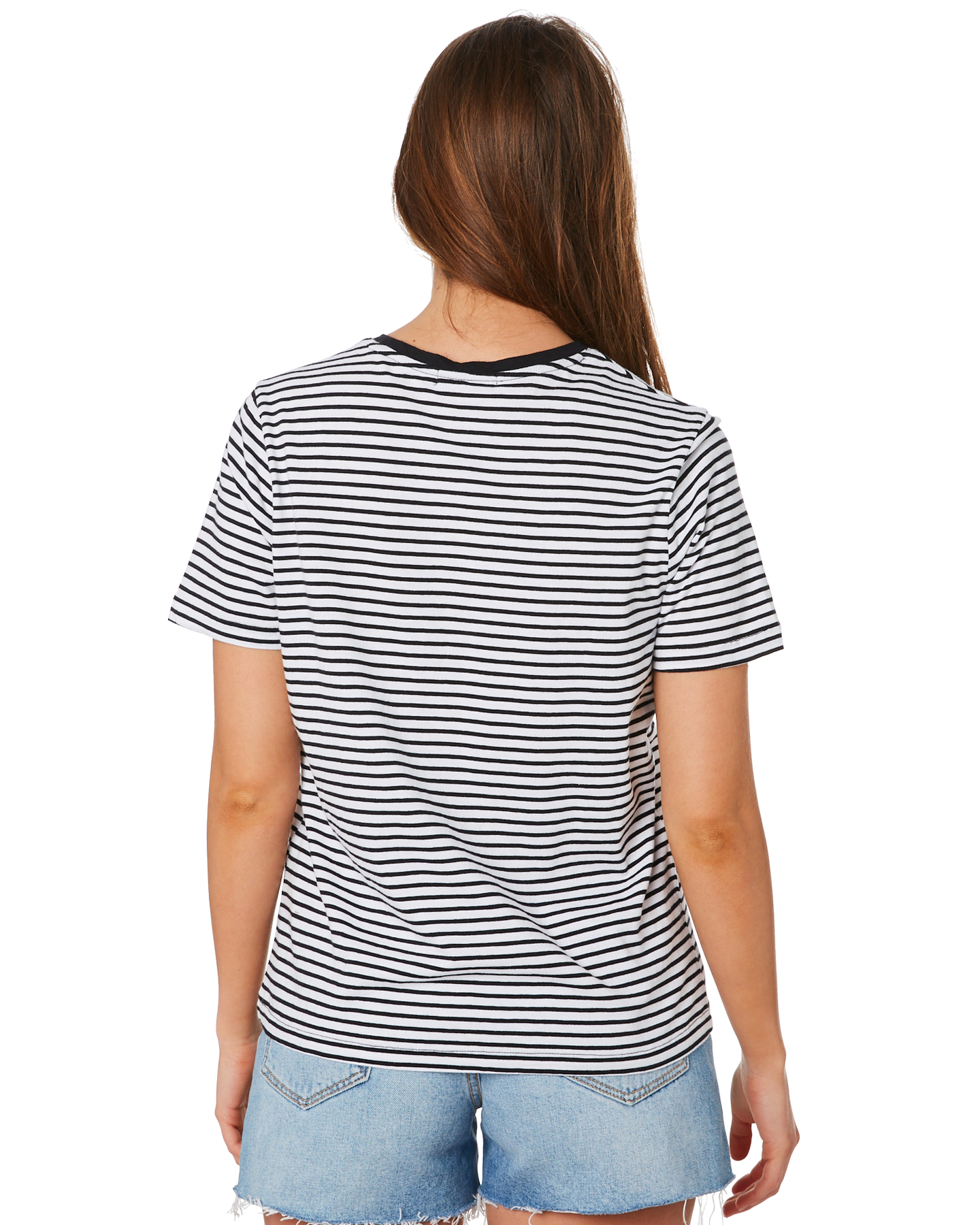 New-Swell-Women-039-s-Jesse-Stripe-Tee-Crew-Neck-Short-Sleeve-Cotton thumbnail 8