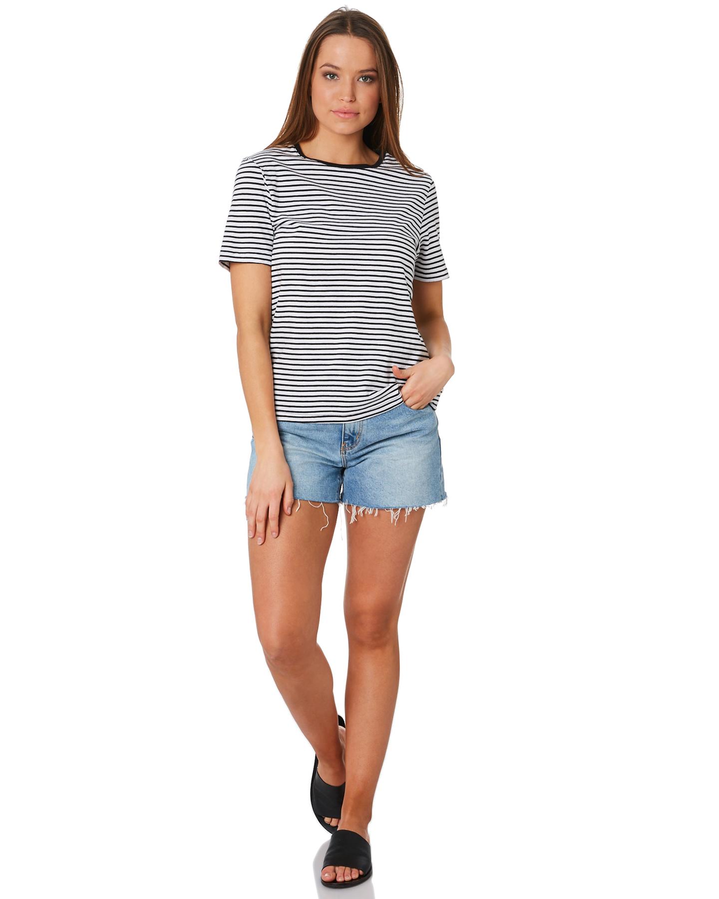 New-Swell-Women-039-s-Jesse-Stripe-Tee-Crew-Neck-Short-Sleeve-Cotton thumbnail 10
