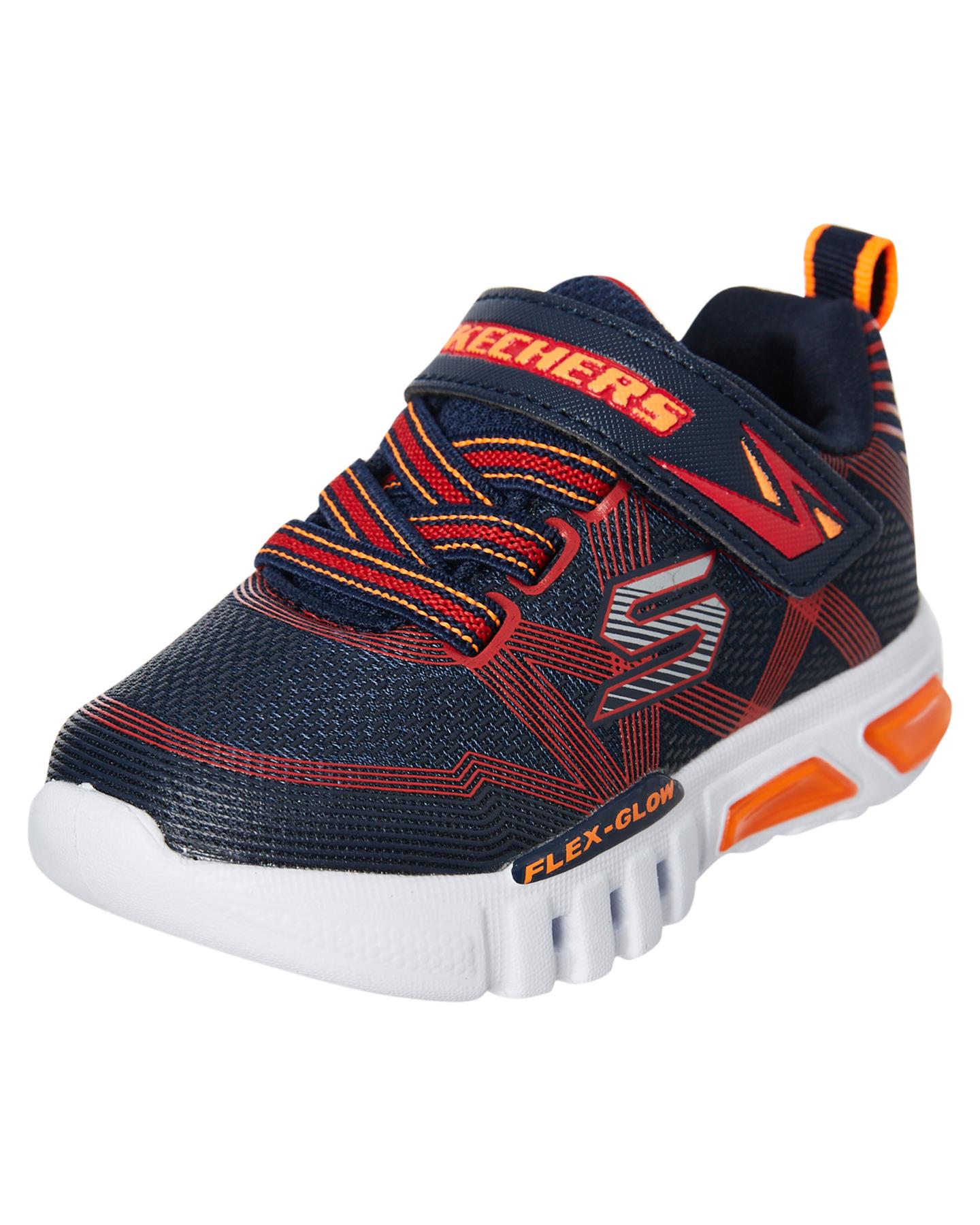 Skechers-Boys-Tots-Boys-Flex-Glow-Shoe-Lace-Mesh-Blue thumbnail 15