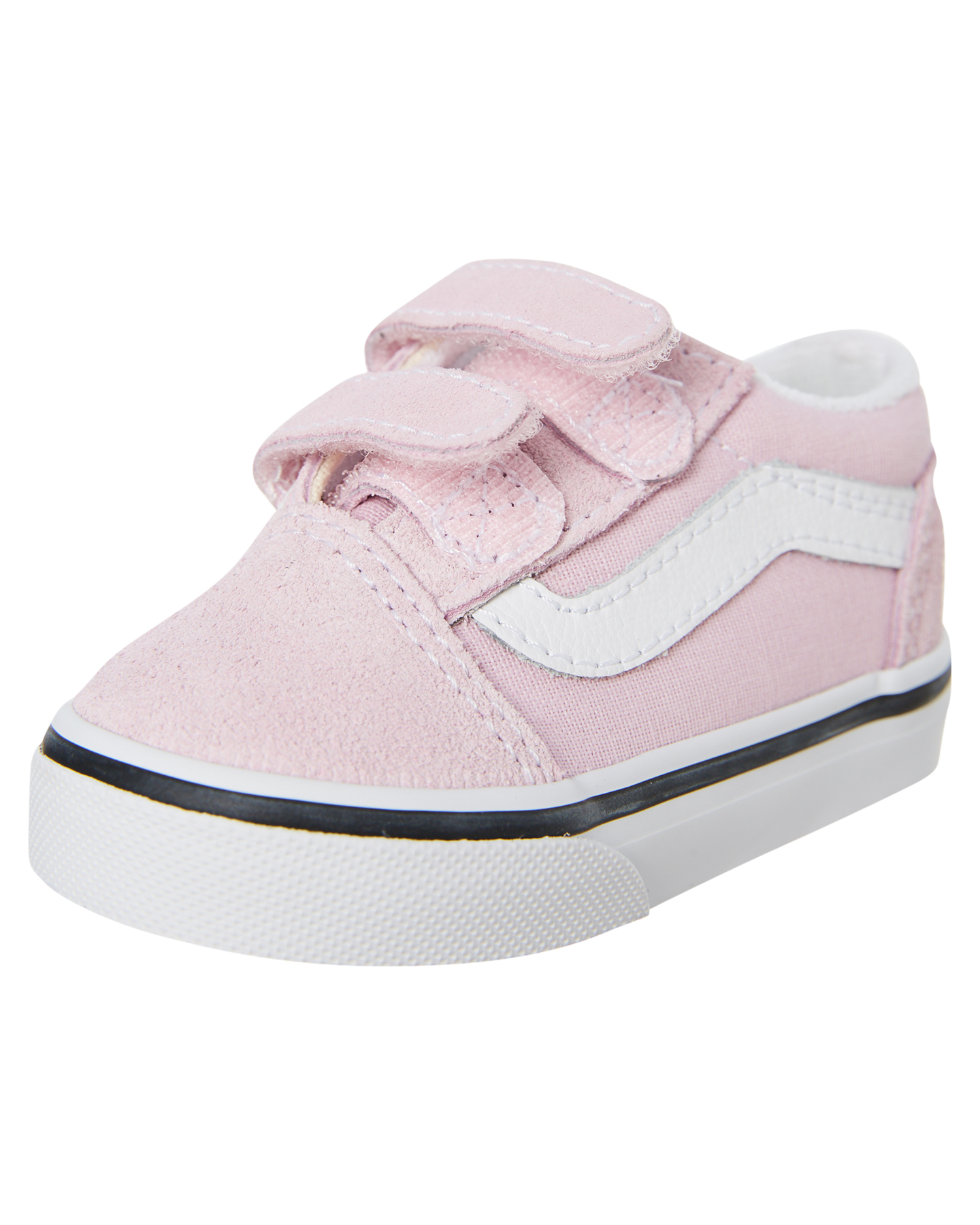 New-Vans-Girls-Kids-Old-Skool-V-Shoe-Rubber-Canvas-Black thumbnail 8