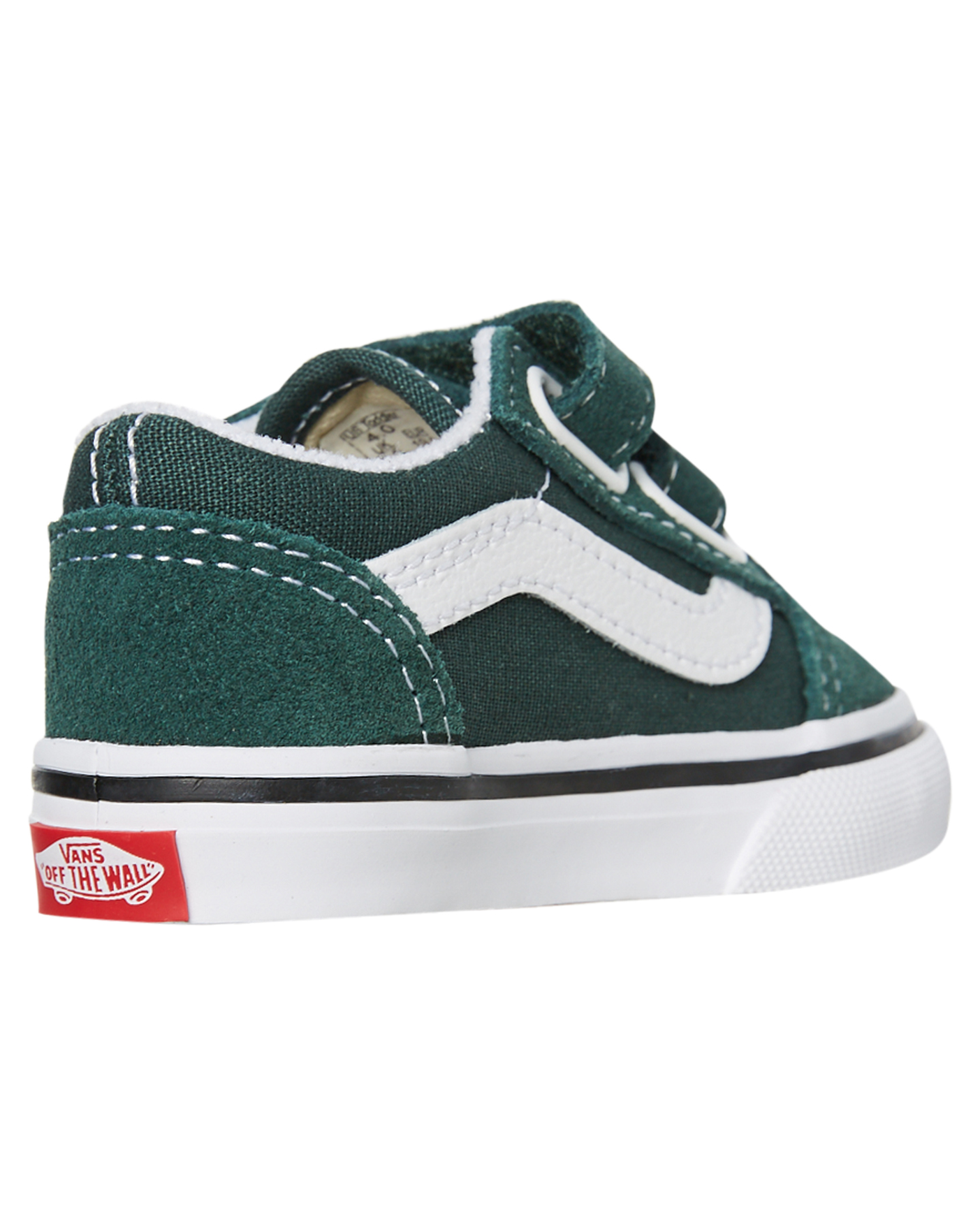 New-Vans-Girls-Kids-Old-Skool-V-Shoe-Rubber-Canvas-Black thumbnail 14