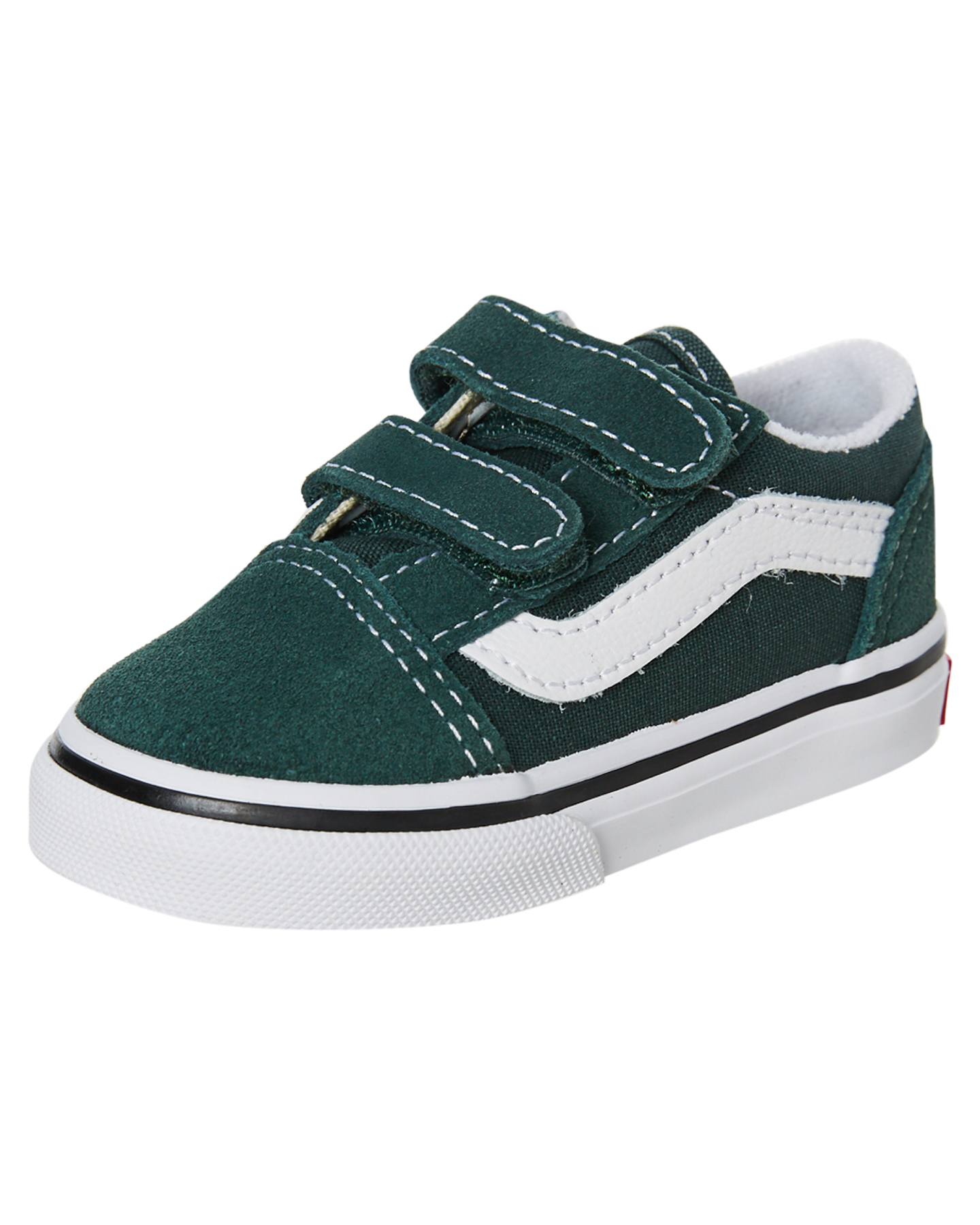 New-Vans-Girls-Kids-Old-Skool-V-Shoe-Rubber-Canvas-Black thumbnail 15