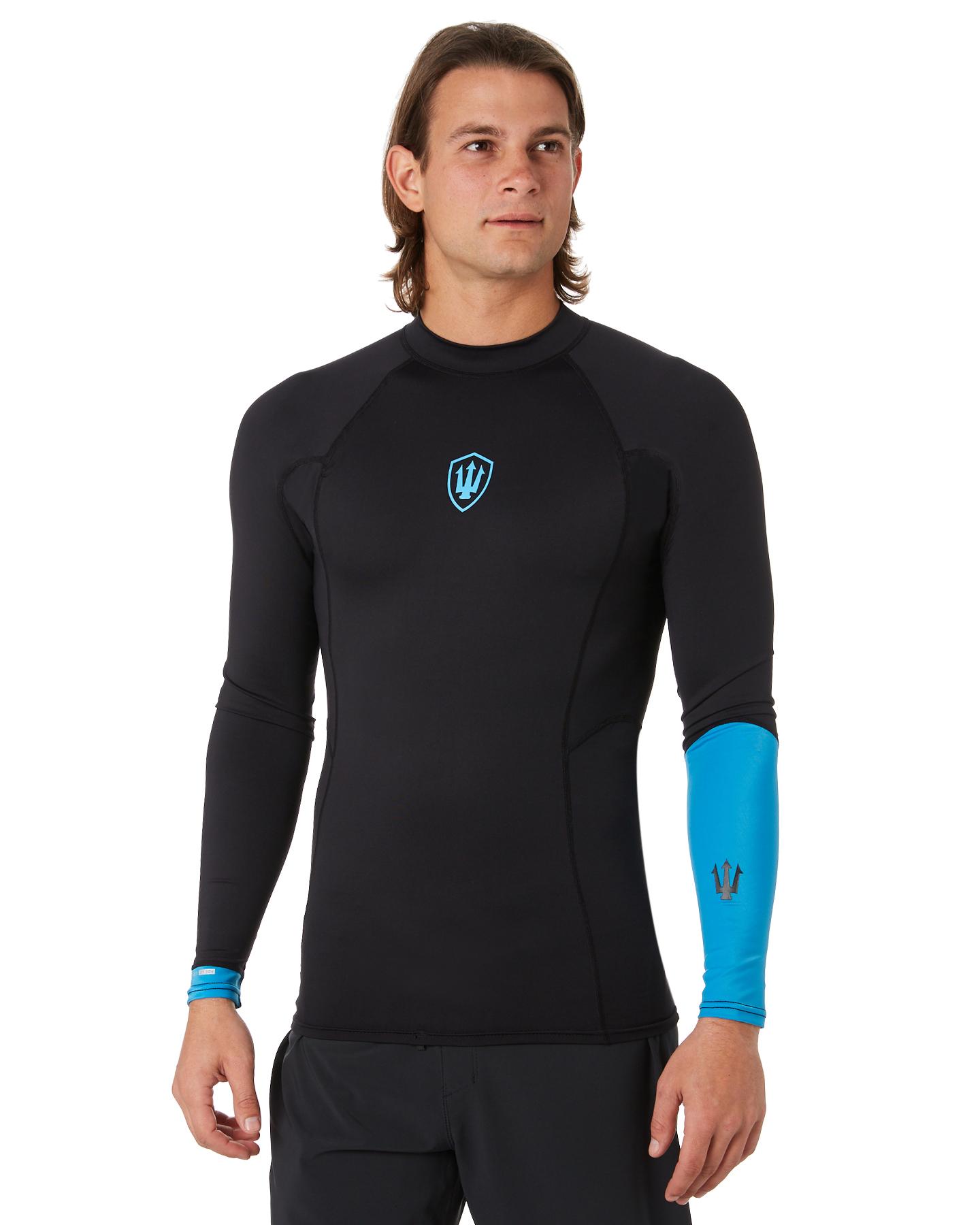 Fk Surf Performance X Ls Rash Shirt Black Blue