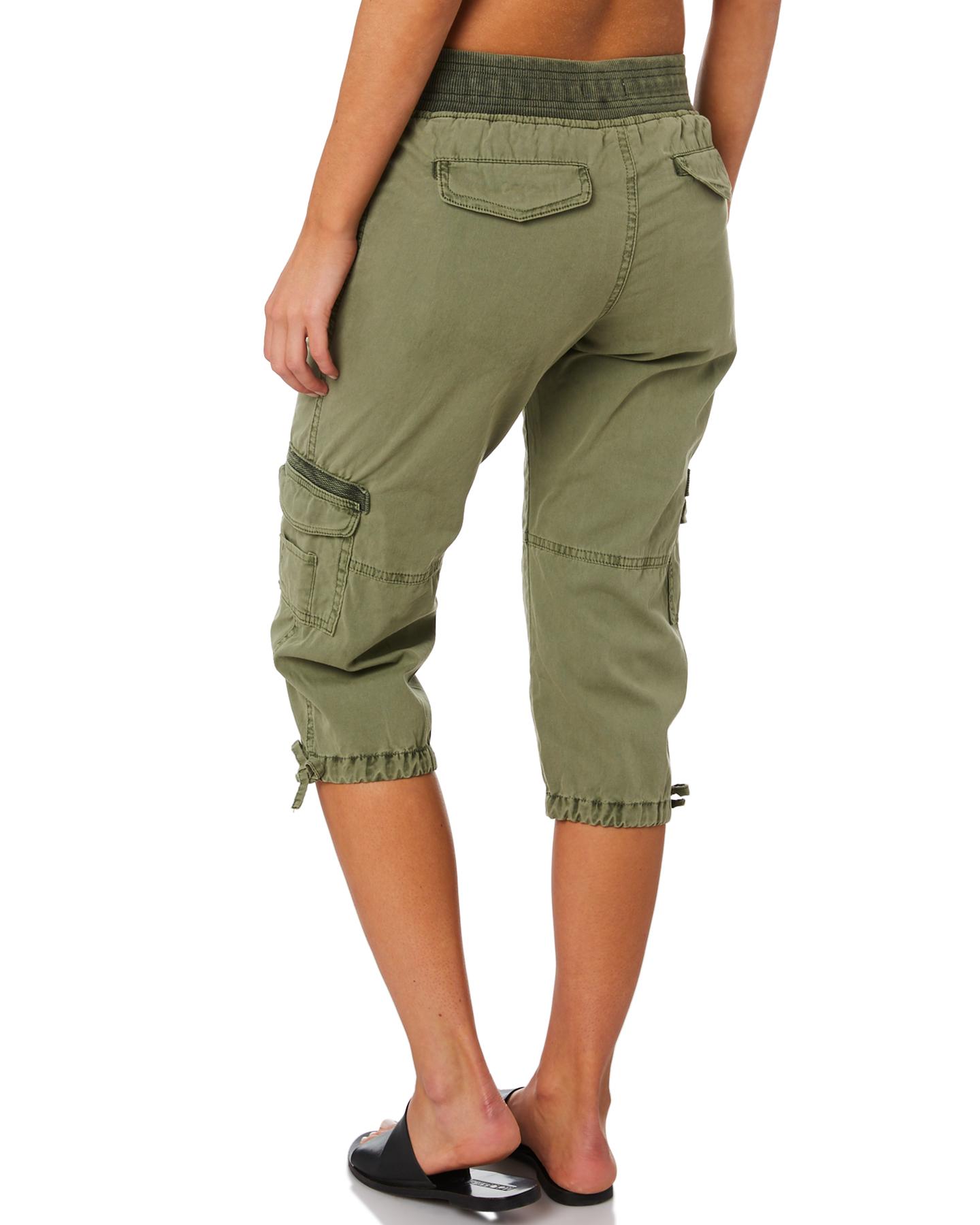 New-Swell-Women-039-s-Mayfair-3-4-Cargo-Pant-Cotton-Green thumbnail 8