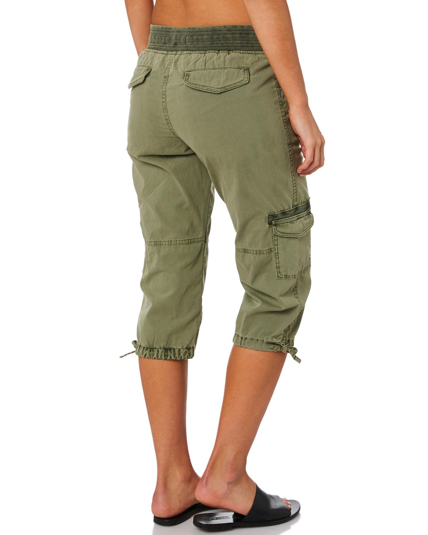New-Swell-Women-039-s-Mayfair-3-4-Cargo-Pant-Cotton-Green thumbnail 9