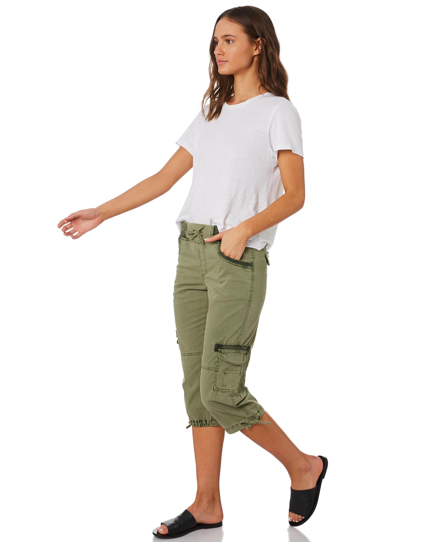 New-Swell-Women-039-s-Mayfair-3-4-Cargo-Pant-Cotton-Green thumbnail 10