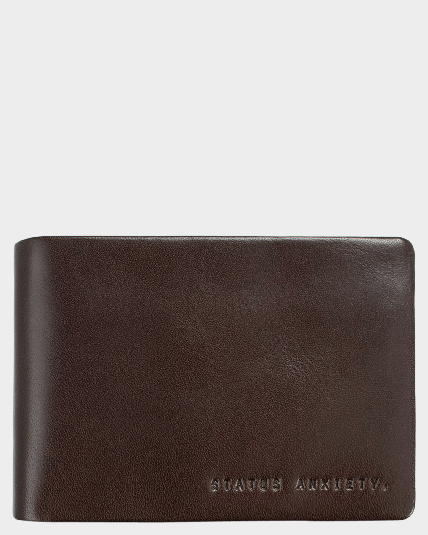 Status Anxiety Jonah Leather Wallet Chocolate Chocolate