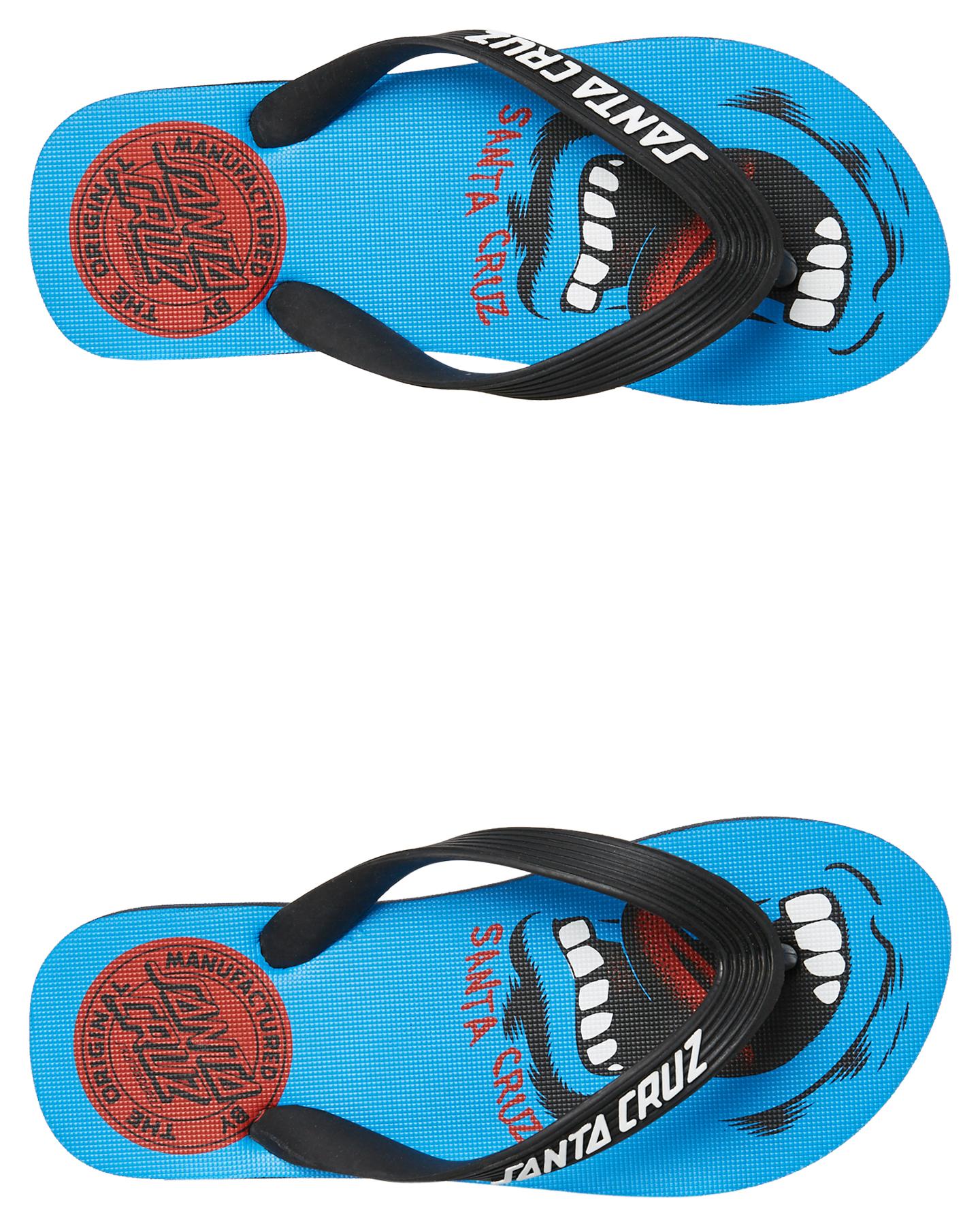 Santa Cruz Screamer Thongs - Youth Blue