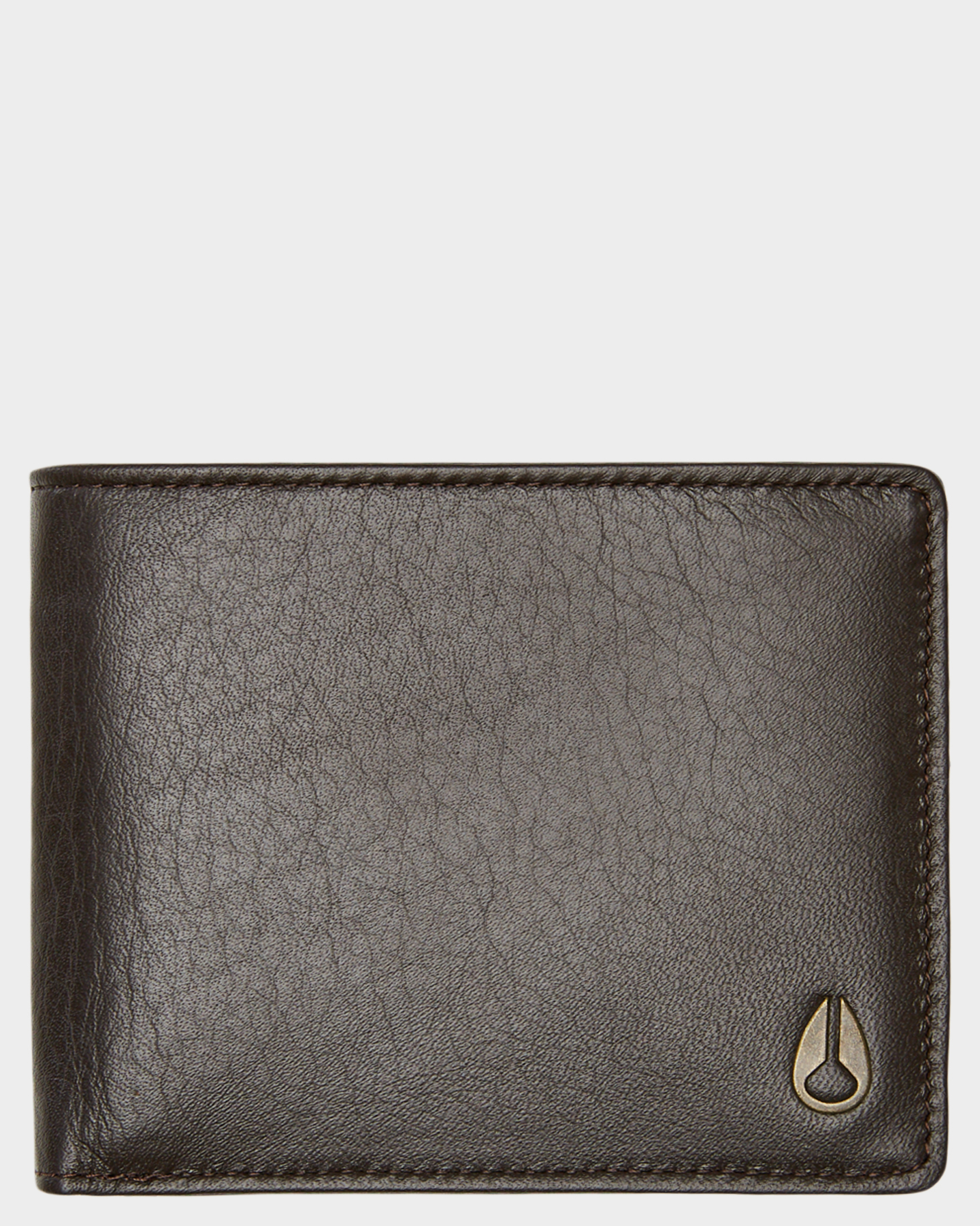 Nixon Pass Leather Wallet Brown