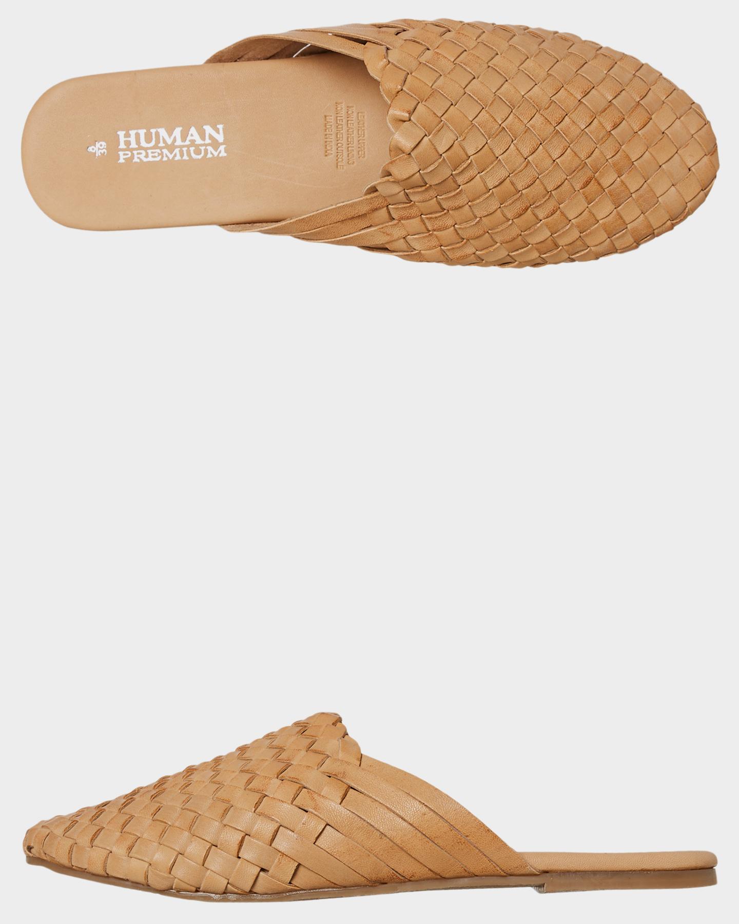Human Footwear Womens Barland Slide Natural Natural
