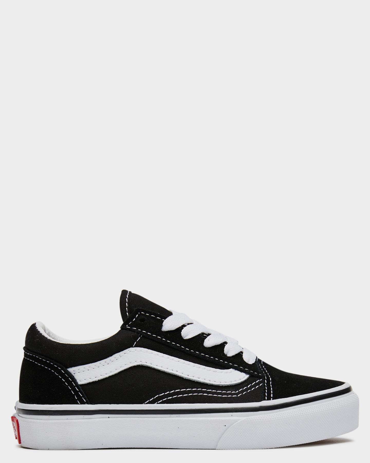 Vans Old Skool Shoe - Youth Black White
