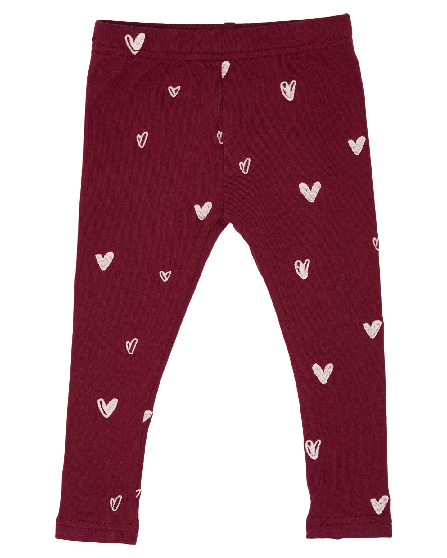 Kissed By Radicool Girls Heart Legging Kids Heart Heart