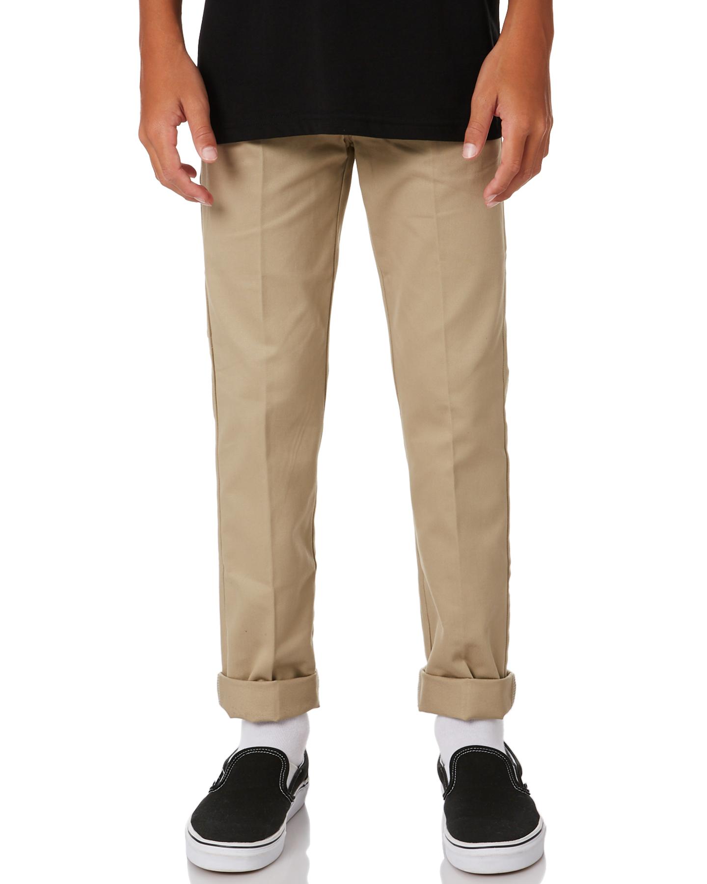 Dickies Boys Skinny Straight Fit - Teens Khaki Khaki