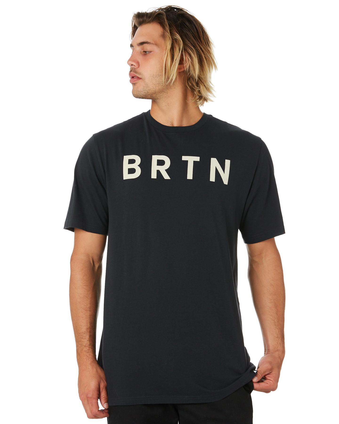 Burton Brtn Organic Mens Ss Tee True Black