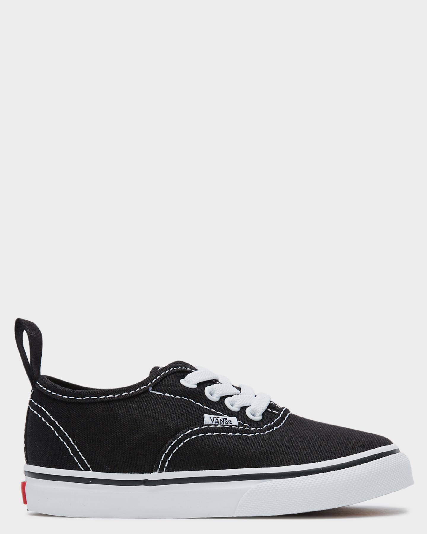 Vans Authentic Elastic Lace Shoe - Toddler Black White