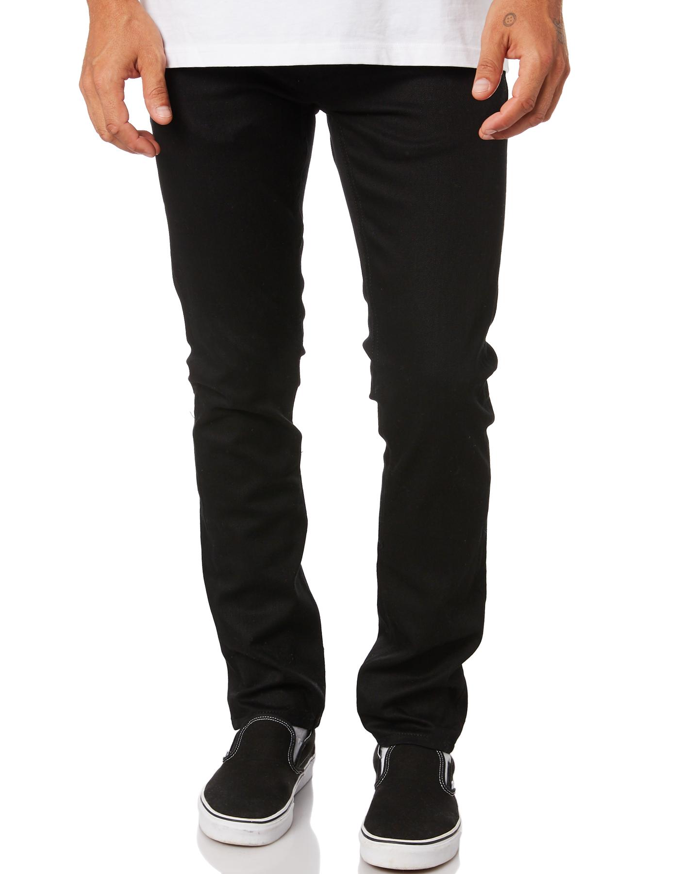 Nudie Jeans Co Grim Tim Mens Jean Dry Ever Black